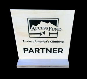 Access Fund wood sign