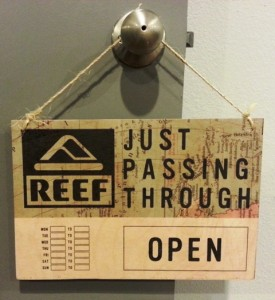 eric wiltfong - Reef wood open closed sign