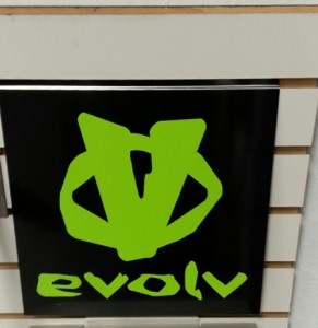 Evolv slat wall sign