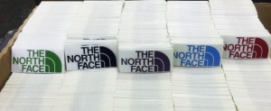 North Face die cuts