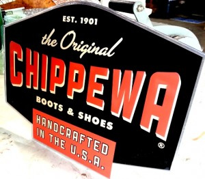 eric wiltfong - Chippewa embossed sign