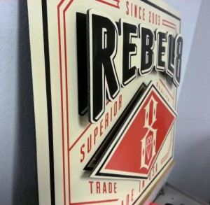 eric wiltfong - Rebel 8 two level sign